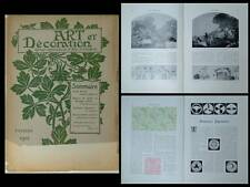 ART ET DECORATION 1912 LEON MORIN, GEORGES AURIOL, ARMOIRIES JAPONAISES, GRASSET