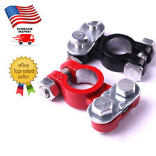 2Pc Positive & Negative Pole Car Terminal End Battery Clamp Clip Connector in US