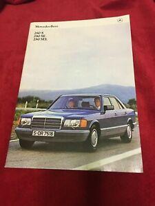 Mercedes-Benz 280 series sales brochure circa late 1970's - 40 colour pages