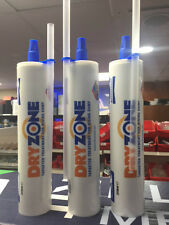 3 TUBES * DRYZONE CREAM 310ML - FITS STANDARD MASTIC GUN - NEXT W/DAY DELIVERY