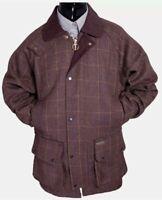 Men's Derby Tweed Wool Breathable Shooting Hunting Waterproof Jacket/Coat S-5XL