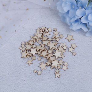 100PCS stelle di legno per le arti Mestieri Decorazione di nozze di compZZIT