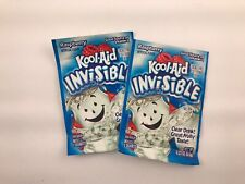 2 Vintage Kool-Aid Invisible Drink Mix Raspberry Discontinued