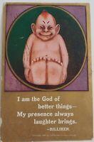 1909 Billiken Good Luck Creepy Comic Antique Postcard
