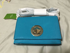 Kate Spade Crossbody Bag Brand New With Tags - Neon Turquoise Saffiano Leather