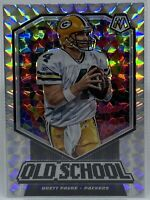 2020 Mosaic Football BRETT FAVRE Old School #OS15 SILVER PRIZM Packers SP