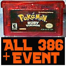 Pokemon Ruby Unlocked with all 386 Pokemon + Legit Event Pokemon