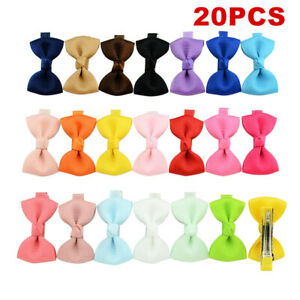 20pcs Baby Girls Toddler Mini Flowers Bow Hair Clips Cute Hairpin Alligator Clip