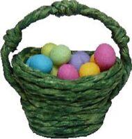24 Green Apples Dollhouse Miniature Rope Bushel Basket 1:12 Scale