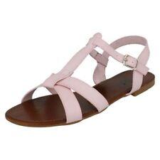 Sandalias y chanclas de mujer planos de color principal rosa Talla 38.5