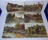 Vintage Table Placemats Set of 6 Shakespeare by Clover Leaf