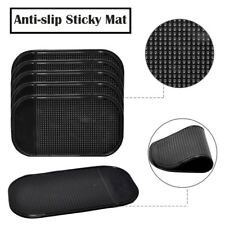 Black 5Pcs Nano Car Magic Anti-Slip Phone Hold Dashboard Sticky Pad Non-slip Mat