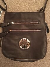 BROWN FAUX LEATHER BAG BEIYANI LADIES TOWIE SUMMER HOLIDAY TOWIE RRP NEW RRP £35