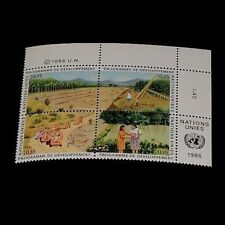 U.N. Geneva #144a, 1986, Development Program Issue, Insc. Blk/4, Nice! Lqqk!