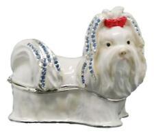 Shih Tzu Dog Jewelled Trinket Box or Figurine Approx 6cm High