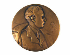 """Belgian bronze medal """"C.R.A.A."""" Leopold III by Alf Mauquoy 1936"""