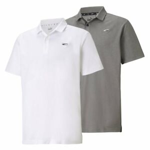Puma Tech Pique Moving Day Golf Polo Cat Logo Left Chest Pick Size & Color