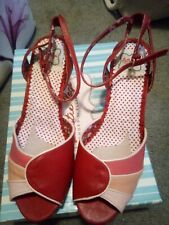 Womens high heels, size 8, brand new, red, toe sandal