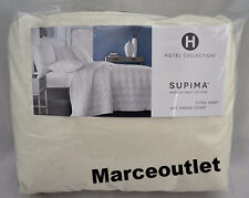 Hotel Collection 680 Thread Count Cotton QUEEN Fitted Sheet Ivory