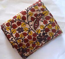 Cotton kalamkari screen print Kurti fabric - 300 cms Tree of life white base