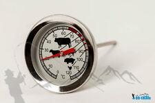 Edelstahl Thermometer 0-120°C räuchern Räucherofen Räuchertonne Räucherschrank