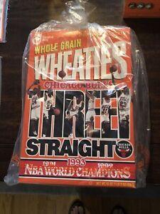 Michael Jordan Chicago Bulls Unopened 1993 Wheaties Cereal Box Three Straight