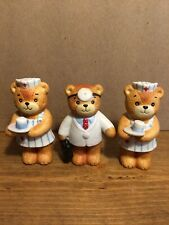 Lot Of 3 1980 Lucy And Me Enesco Teddy Bear Doctor And Nurses 3 1/2� Taiwan
