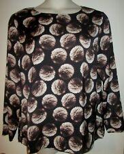 PRIVE Womens TOP L Shirt Dandelion Dot Print LARGE NEW NWT $109