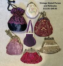 Victorian 1800's Style Reticule and Beaded Purses New