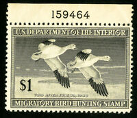 US Duck Stamps # RW14 VF Single Plate # OG NH Scott Value $55.00