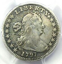 1797 Draped Bust Half Dime H10C - Certified PCGS Fine Details - Rare Date Coin!