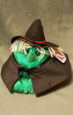"""NWT Puffkins Hazel the Witch Plush DOB 10/31/1997 Limited Edition 5"""" by Swibco"""