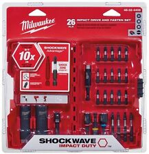 Impact Driver Bits Kit Set 26 Piece Hex Drill Driving Home Garage Hand Tools