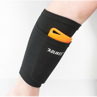 2x Soccer Football Shin Pads Support Socks Guard Protective Sleeves Breathable