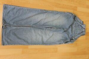 L3428 Moda Latzhose Schwangerschaftshose Jeans 40 blau Sehr gut