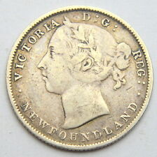 Canada NEWFOUNDLAND 20 Cents 1899 VICTORIA SILVER COIN