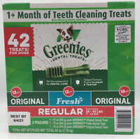 Greenies, Daily Dental Dog Treats Chews, Regular Size (Choose Count + Flavor)
