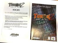 Turok 2 Seeds Of Evil Instruction Booklet Only MANUAL and Special Note Insert