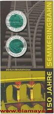 25 Euro Niob 150 Jahre Semmeringbahn 2004 Flyer keine Münze no Coin Eiamaya