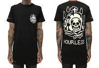 Hourless Tall Tee (T-Shirt) Mens S M L XL XXL BLACK Afends Vans RVCA Tattoo