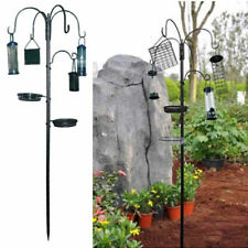 GARDEN WILD BIRD FEEDING STATION WITH HANGING FEEDERS WATER BATH TABLE SEED TRAY