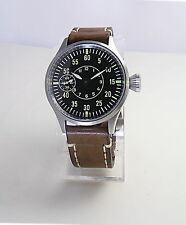 B-UHR Flieger Military Men's Stainless Steel Wristwatch Sapphire Crystal