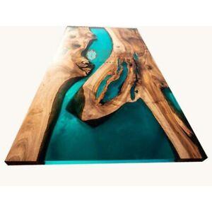 Epoxy table, dining, sofa, center table top Live Edge Walnut table Office Decor
