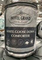 Hotel Grand White Goose Down Comforter - Size: Full Queen
