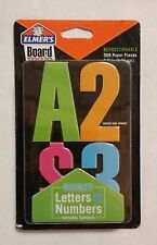 ELMERS 2.5 inch POSTER LETTERS NUMBERS SYMBOLS 308 Pieces SIGNS Bright Colors