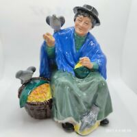 "VINTAGE ESTATE ""TUPPENCE A BAG"" ENGLAND ROYAL DOULTON BIRD LADY FIGURINE #HN2320"