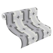 Grey Hotspot Retro Geometric Wallpaper Rolls - Rasch 804805