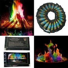 More details for 12x magic colour neon bonfire sachets fire pit changing flames fire mystical
