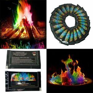 12x Magic Colour Neon Bonfire Sachets Fire Pit Changing Flames Fire Mystical
