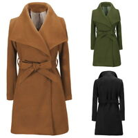 Fashion Women Winter Trench Coat Slim Parka Long Jacket Overcoat Warm Outwear